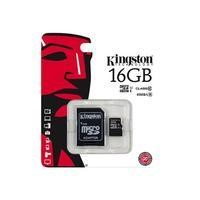 Kingston 16GB Micro SD Card with Adapter - Class 10