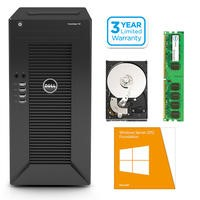 Dell PowerEdge T20 Mini Tower 10 Users Entry Business Server Bundle with Windows Server 2012 R2 Foundation ROK