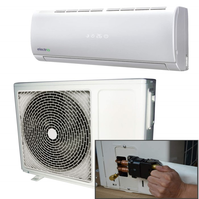 electriQ 12000 BTU Panasonic Powered Quick Connector Smart Wall Mounted  Split Air Conditioner with Heat Pump 4 mete