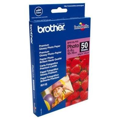 Brother BP 61GLP50 Premium Glossy Photo Paper - glossy photo paper - 50 sheets
