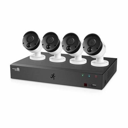 HomeGuard 1080P 8CH DVR & 4x 1080P PIR Heat-sensing Day/Night CCTV Cameras 1TB