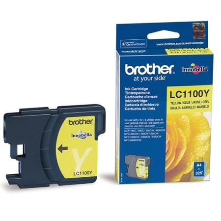 Brother LC 1100Y Print Cartridge - Yellow