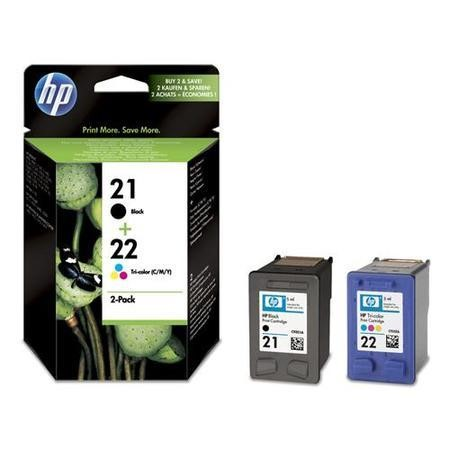 HP 21/22 Combo Pack - Print cartridge - 1 x black color cyan magenta yellow