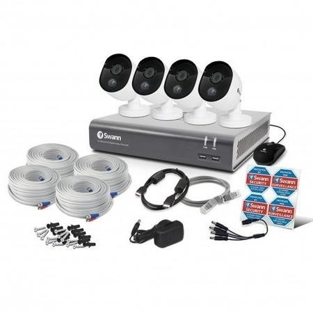 Swann CCTV System - 8 Channel 1080p DVR with 4 x 1080p HD Thermal Sensing Cameras & 1TB HDD