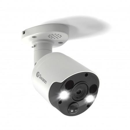 Swann 4K Ultra HD Thermal Sensing White Bullet Camera with 150ft Night Vision - 1 Pack