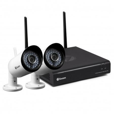 Swann Wireless CCTV System - 4 Channel 1080p HD NVR with 2 x 1080p WiFi Cameras & 1TB HDD