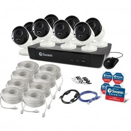 Swann CCTV System - 8 Channel 5MP NVR with 8 x 5MP Thermal Sensing Cameras & 2TB HDD