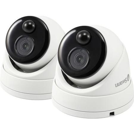 Swann 1080p HD Thermal & Heat Sensing Dome Camera White - Twin Pack