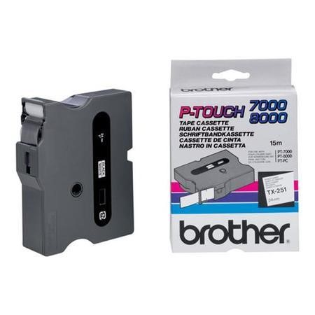 Brother TX 251 - laminated tape