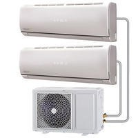 Multi-split 18000 BTU Inverter Air Conditioner system with single outdoor unit and two 9000 BTU indoor units