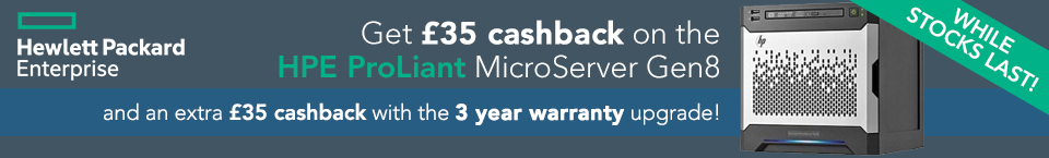 HPE ProLiant Microserver Gen8 Cashback Offer