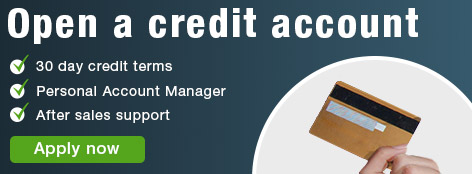 open a servers direct credit account banner.
