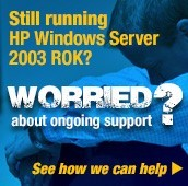 Are you still running HP Windows Server 2003 ROK? Don